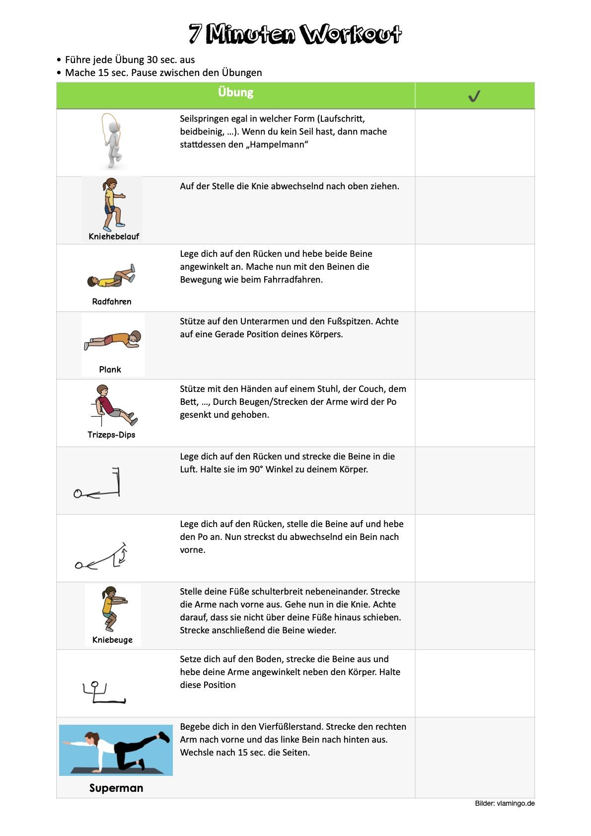 Workout- Woche 4